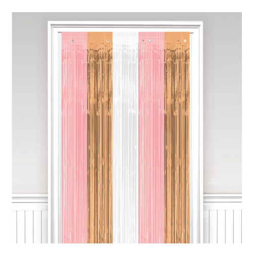Rose Gold Blush Door Curtains